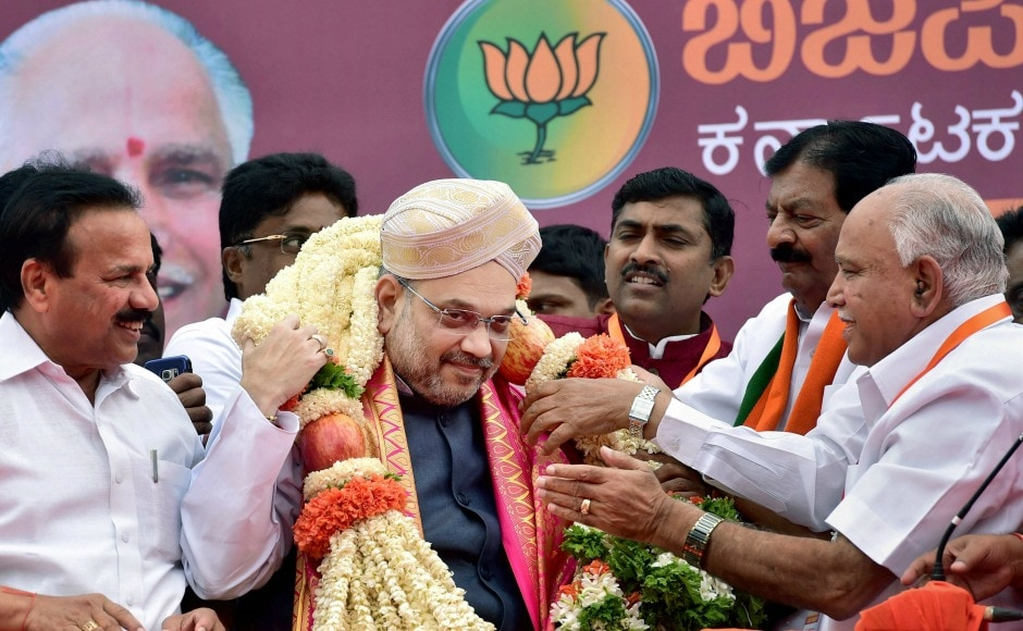 BJP president Amit Shah arrived in Karnataka on Saturday for a three-day visit to re-energise the party rank and file. PTI