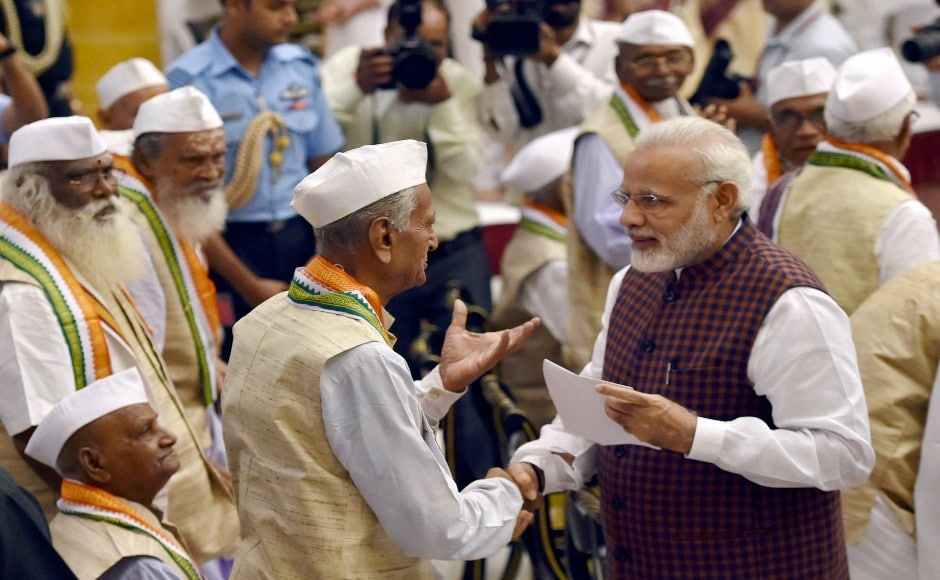 Prime Minister Narendra Modi felicitated families of the freedom fighters on the occasion. The Monsoon Session of the Parliament also held a special session marking the 75th anniversary of the Quit India Movement. PTI
