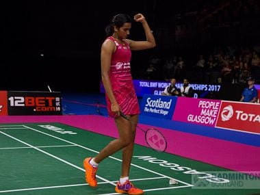 PV Sindhu cruised past China's Chen Yufei to reach her first ever World Badminton Championships final. Twitter/@2017WBC