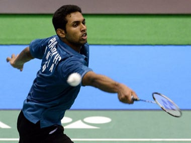 File photo of HS Prannoy. AFP