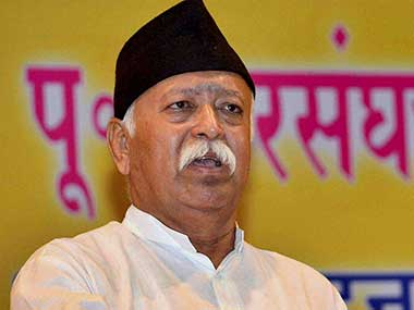 File image of RSS chief Mohan Bhagawat. PTI