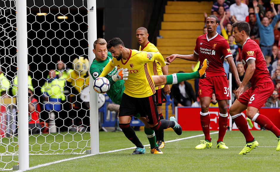 Liverpool were looking set to get all three points in their opening game but Miguel Britos scored an added-time equaliser that ensured Watford salvage a point. Reuters