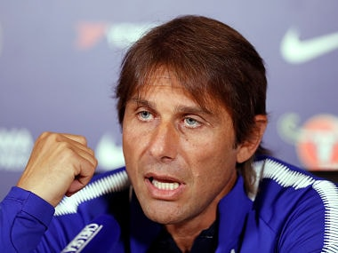 Football Soccer - Chelsea Press Conference - London, Britain - August 18, 2017 Chelsea manager Antonio Conte during the press conference Action Images via Reuters/Matthew Childs - RTS1CBGM