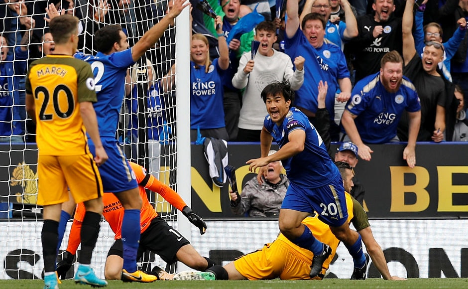 Shinji Okazaki found the back of the net for second time in as many games to take the lead for Leicester City in the first minute of the game against newly promoted Brighton & Hove Albion FC. Reuters