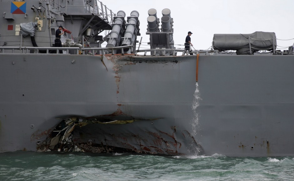 A United States destroyer USS John S McCain collided with merchant vessel Alnic MC on Monday morning off the east coast of Singapore while it was heading for a routine port call. Reuters