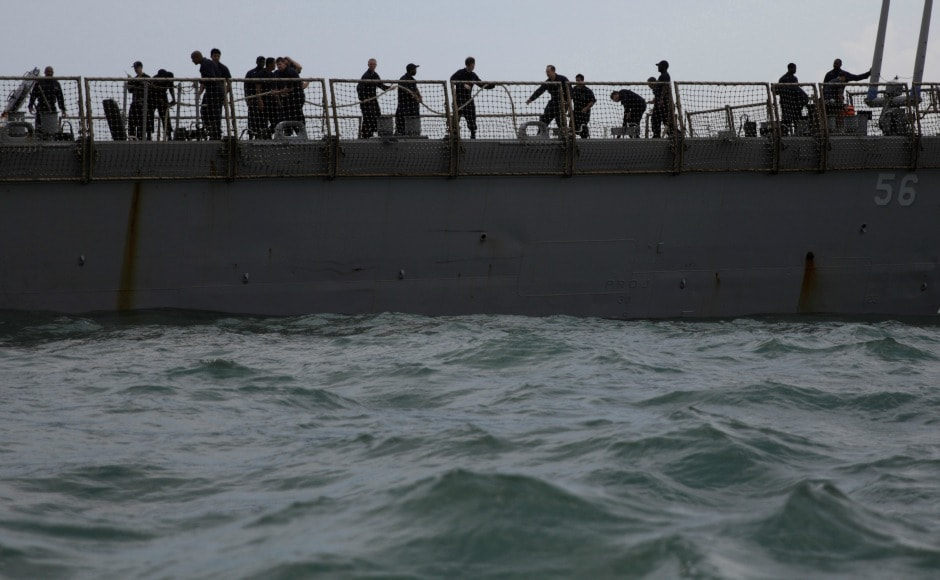 Navy and coast guards in Singapore and Malaysia are currently conducting wide search and rescue operations. AP