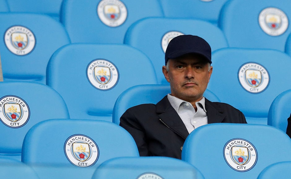 Manchester United manager Jose Mourinho took the trip to Etihad Stadium to watch arch rivals, Manchester City take on Everton. Reuters