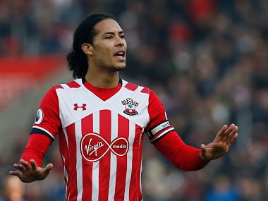"""Football Soccer Britain - Southampton v Leicester City - Premier League - St Mary's Stadium - 22/1/17 Southampton's Virgil van Dijk Action Images via Reuters / Paul Childs Livepic EDITORIAL USE ONLY. No use with unauthorized audio, video, data, fixture lists, club/league logos or """"live"""" services. Online in-match use limited to 45 images, no video emulation. No use in betting, games or single club/league/player publications. Please contact your account representative for further details. - RTSWSXO"""