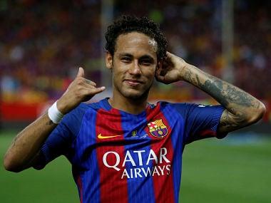 Football Soccer - FC Barcelona v Deportivo Alaves - Spanish King's Cup Final - Vicente Calderon Stadium, Madrid, Spain - 27/5/17 Barcelona's Neymar celebrates at the end of the matchReuters / Sergio Perez - RTX37XK5