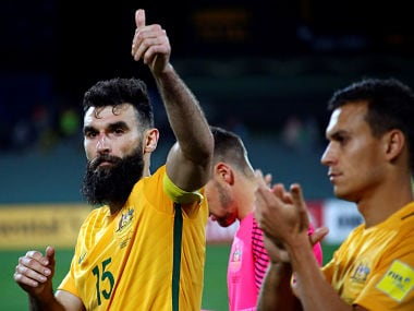 Football Soccer - Australia v Saudi Arabia - World Cup 2018 Qualifiers - Adelaide Oval, Adelaide, Australia - 08/06/17 Australia's Mile Jedinak reacts after the match. REUTERS/David Gray - RTX39MM1