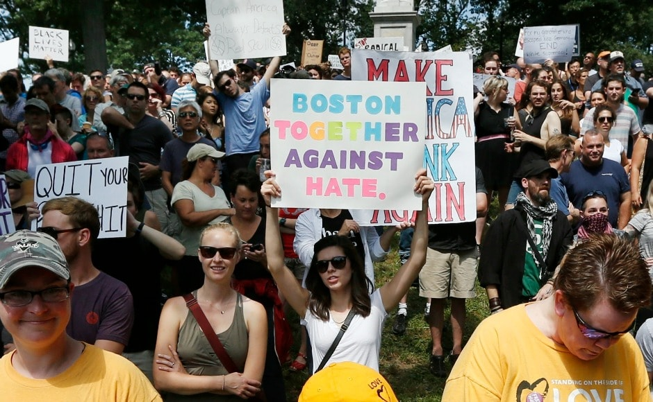 Tensions across the United States over hate speech have ratcheted up sharply after the Charlottesville clashes during the latest in a series of white supremacist marches. AP