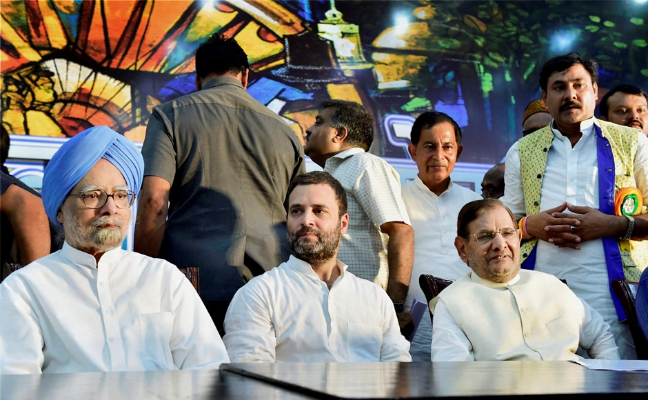 Rahul Gandhi accused the BJP of not fulfilling the promises made to the people during the 2014 general elections. These included bringing back black money stashed abroad and creating jobs for the youth. PTI