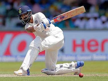 India's KL Rahul plays a shot during their second Test against Sri Lanka in Colombo. AP