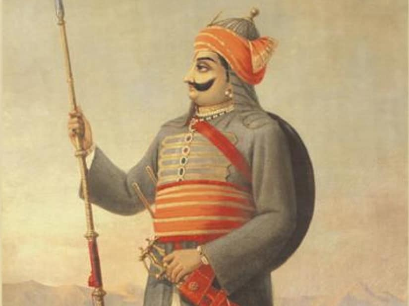 A Raja Ravi Varma painting of Maharana Pratap. Image via Wikimedia Commons