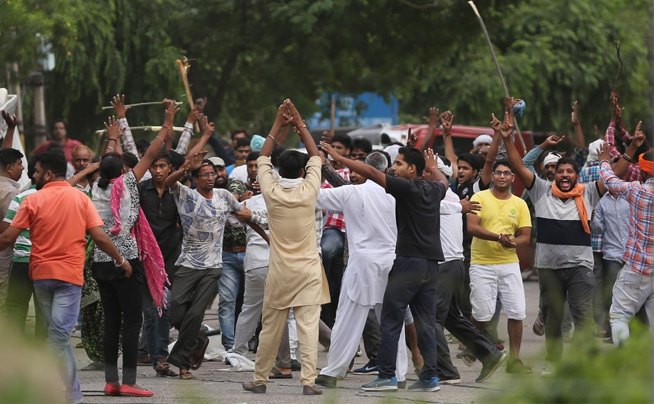 Dera followers, who had gathered in strength over the past four days in Panchkula, went berserk on Friday, after which police lobbed tear gas shells, resorted to lathicharge and fired in the air to control the mob. Six army columns were also deployed in Panchkula to control the violence. AP
