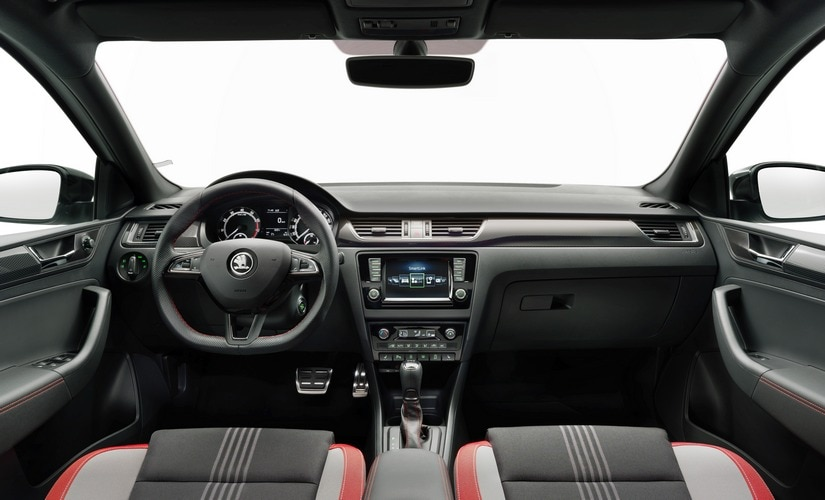 The interiors of the Skoda Rapid Monte Carlo feature a hosts of new design elements including stainless steel pedals.