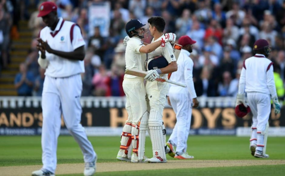 Joe Root, Alastair Cook tons help England dominate West Indies on Day 1 of day-night Test
