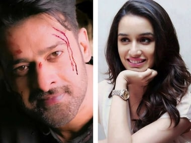 Shraddha Kapoor and Prabhas. Images via Facebook