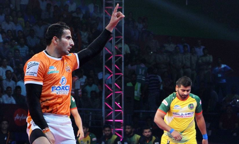 Sandeep Narwal plays with an agression that's almost become trademark of his game. PKL
