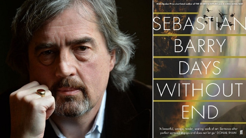 There lurks a sense of unease in the majestic landscape of Sebastian Barry's Days Without End. Images via Twitter/@IrishArtsCenter; Faber, UK
