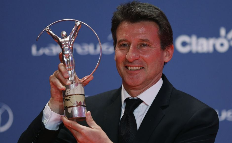 Former British track and field athlete Sebastian Coe received the 2013 Laureus Lifetime Achievement Award. Reuters