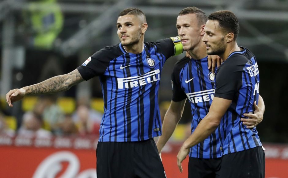 Video technology was also needed in Inter Milan's 3-0 victory over Fiorentina. AP