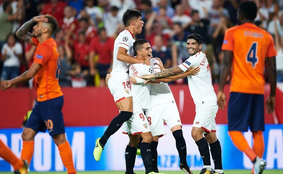 Wissam Ben Yedder scored the crucial goal to win it for Sevilla. Image Courtesy: Twitter @ChampionsLeague