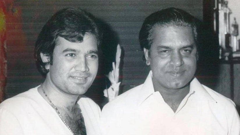 Shakti Samanta (right) along with Rajesh Khanna. Image via Facebook