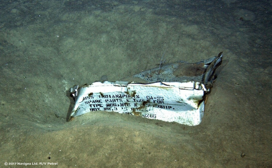 The wreckage was found 5.5 kilometres below the surface in the Pacific Ocean. AP