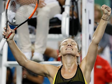 Simona Halep has a chance at becoming the World No 1 if she wins the final. AP