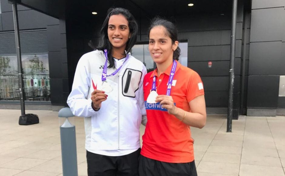PV Sindhu settled for a silver medal after an epic battle against Nozomi Okuhara of Japan in the World Badminton Championships 2017 final on Sunday. Saina Nehwal won bronze after losing to the Japanese in the semi-final on Saturday. Twitter/@virenrasquinha