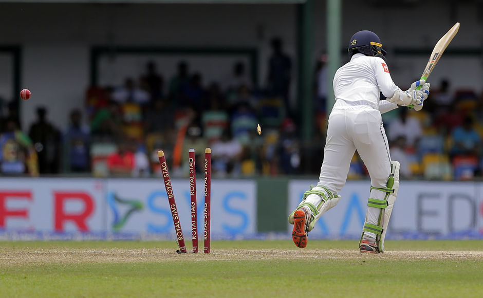 Upul Tharanga failed for the second time in the match as he dismissed for 2 by Umesh Yadav as Sri Lanka began their second innings. AP