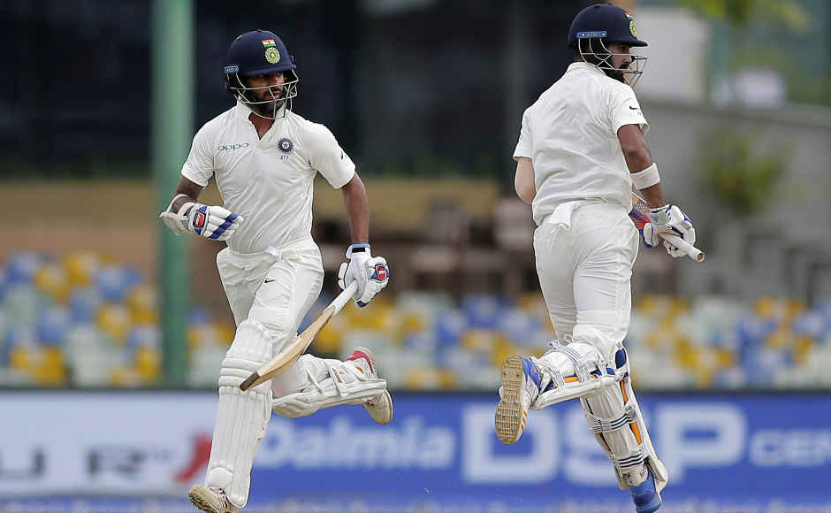 Indian openers Shikhar Dhawan and KL Rahul shared a breezy 56 run opening stand inside first 10 overs of the Day 1. Dhawan was dismissed for 35, while Rahul, who was making his comeback, went on to score his 6th consecutive half-century. AP