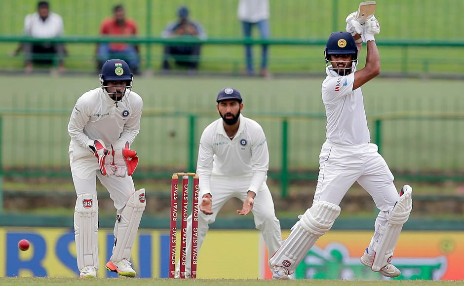 After couple of early wickets on Day 3, it was Sri Lanka captain Dinesh Chandimal alongwith Angelo Mathews formed a rearguard of sorts to halt the slide and guide the hosts to lunch without any further loss.