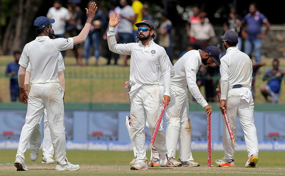 India came through after Sri Lanka stretched them for 2 more sessions on Day 4 as the final wicket of Nuwan Pradeep fell in the additional time taken before Tea. Virat Kohli completed his 8 Test series win on a trot, only Australia's Ricky Ponting has a better record of 9 consecutive Test series win.