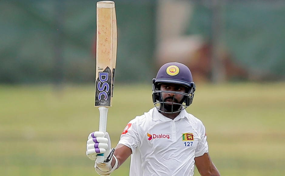 Sri Lanka's wicket-keeper batsman, Niroshan Dickwella, scored the only half century of the innings. He kept attacking the Indian bowlers despite  losing partners at regular intervals. AP