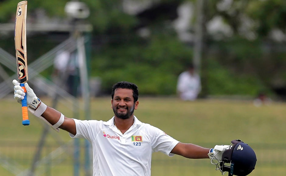Sri Lanka's opener Dimuth Karunaratne resumed his innings from 92 on Day 4 and went to complete a fantastic century. Karunaratne scored his 6th Test ton and dismissed for 141 after Ravindra Jadeja's delivery jumped sharply off the surface. AP