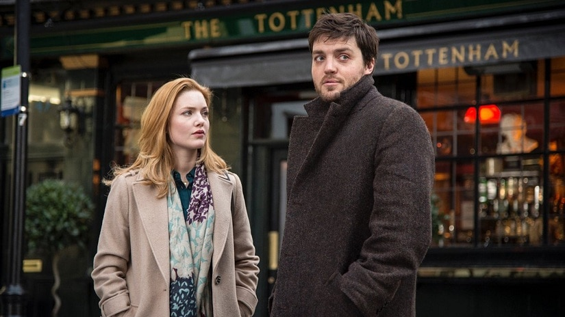 Holliday Grainger as Robin and Tom Burke as Cormoran Strike in BBC One's adaptation of JK Rowling's Cuckoo's Calling. Image via BBC