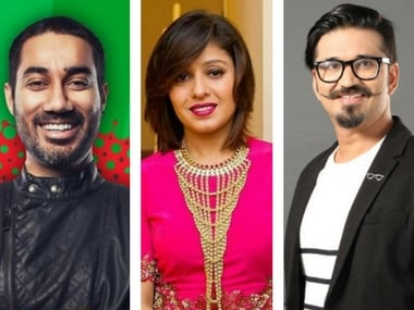 Nucleya, Sunidhi Chauhan and Amit Trivedi. Images via Facebook