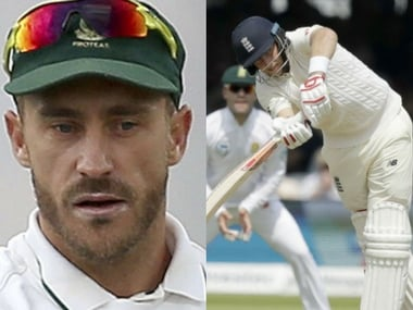 South Africa captain Faf du Plessis and England captain Joe Root.