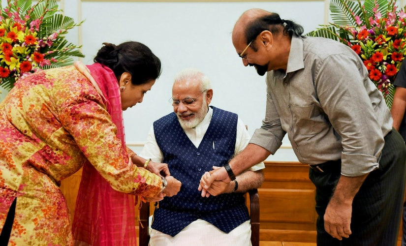Widows from Vrindavan would tie rakhi on Prime Minister Narendra Modi's wrist in Delhi on Monday on the occasion of Rakshabandhan that celebrates the brother-sister bond. PTI