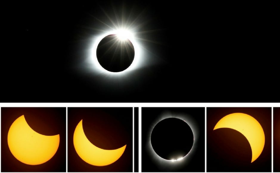 'The Great American Eclipse', as the event was dubbed, witnessed the silhouette of the moon blocking out the sun to form a diamond-ring like halo over it. AP
