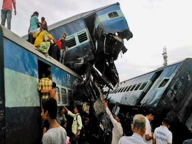 File image of the derailed coaches of Utkal Express. PTI