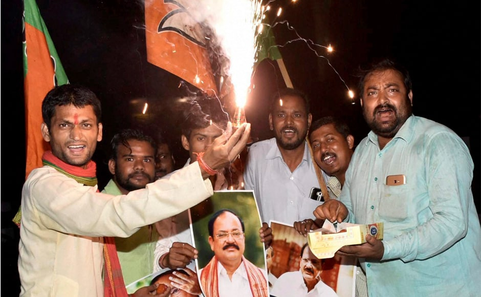 M Venkaiah Naidu's election as the new vice-president of India shattered two records — the 771 votes polled were the highest so far for the constitutional post and his victory margin was more than the votes polled by combined opposition candidate Gopalkrishna Gandhi. PTI