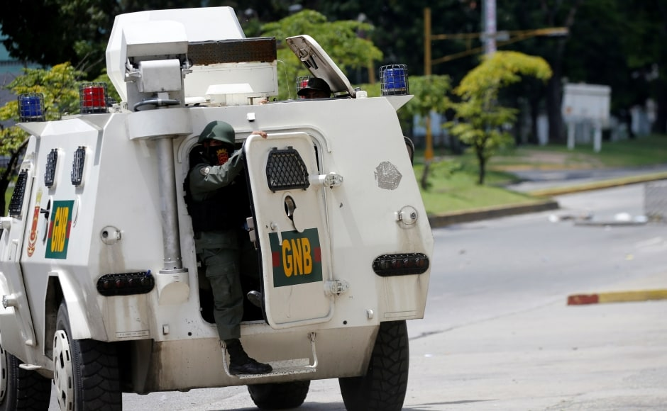Venezuelan authorities quelled an attack on a military base near the city of Valencia by soldiers and armed civilians on Sunday, killing two of them in a dramatic escalation of unrest in the country. Reuters