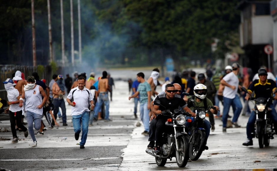 The pre-dawn raid coincided with a video circulated on social media showing more than a dozen men in military uniform announcing an uprising to restore constitutional order following the creation of a pro-government legislative superbody on Friday. Reuters