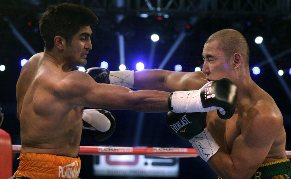 The fight went all 10 rounds with Vijender Singh the winner in a unanimous verdict — 96-93, 95-94, 95-94. AP