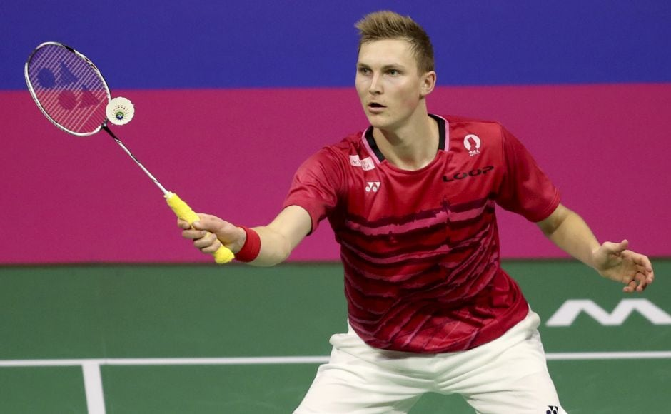 Denmark's Viktor Axelsen beat China's Chen Long 21-9, 21-10 in 39 minutes and has a chance to become the first Danish or European male to win the world title in 20 years. AP