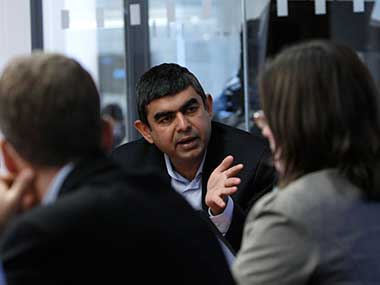 File image of former Infosys CEO Vishal Sikka. Reuters.