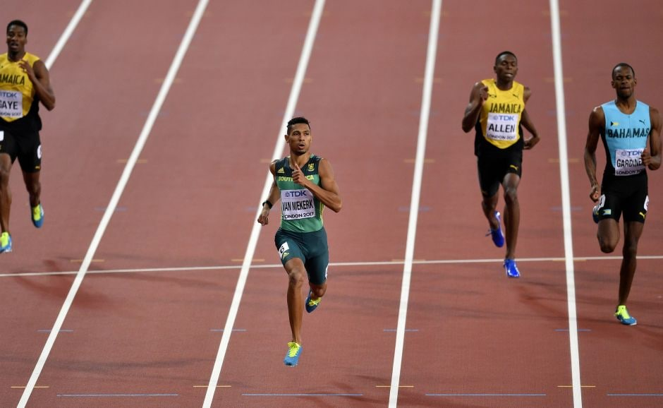 Wayde van Niekerk, running in Lane 6, paced his race perfectly and even eased up at the end to cross in 43.98 seconds. AP
